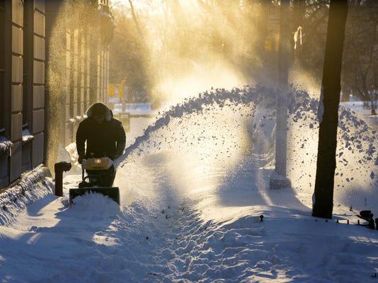 APTOPIX Big Snowstorm_Mona
