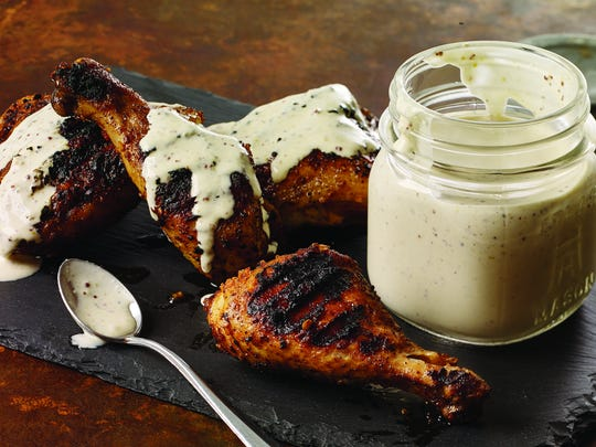 White Barbecue Sauce with Smoky Chicken