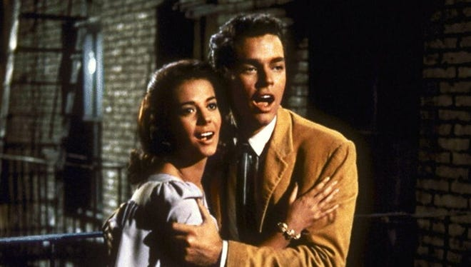 """Natalie Wood and Richard Beymer in the 1961 film adaptation of """"West Side Story."""""""