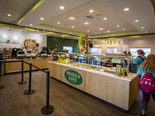 Arugula and Rye, a deli with a salad bar at the Des