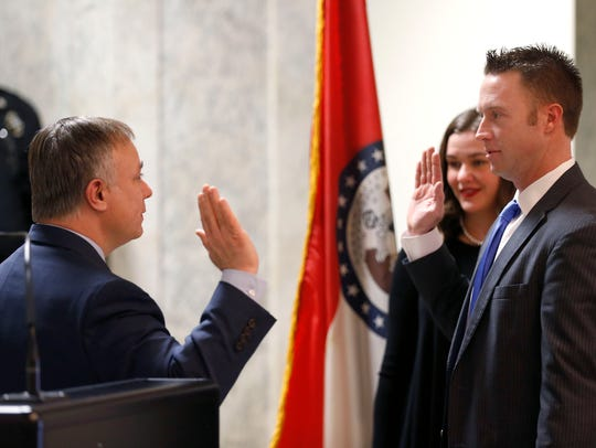 Lincoln Hough is sworn in as the District 2 Greene