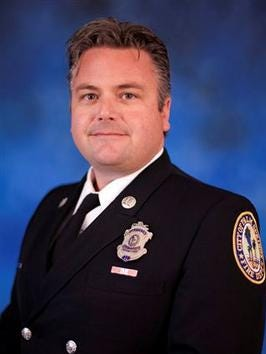 Palm Springs Fire Chief John Allen stepped down from his position, the city announced Thursday.