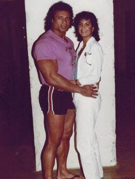 Jimmy Snuka and Nancy Argentino.