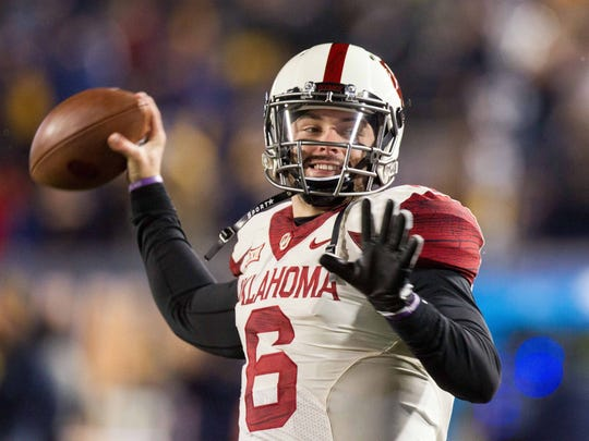 Oklahoma quarterback Baker Mayfield is a Heisman Trophy contender.