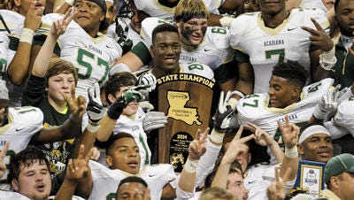 Acadiana High won its second consecutive football championship earlier this month.
