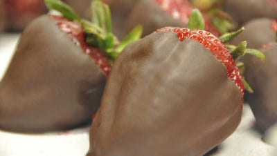 Chocolate-covered strawberries will be available from Team Triple B in a fundraiser for cancer research.