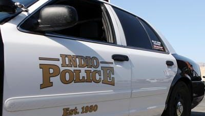 Indio police said a man died after being struck by a car when crossing Van Buren Street early Friday morning.