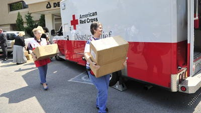American Red Cross workers.