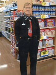 Johnny Thunder while working as a greeter at the Newport Kroger.