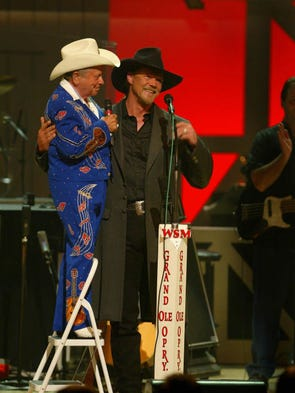 Capitol Records recording artist Trace Adkins received the surprise of a lifetime tonight on the stage of the Grand Ole Opry when invited to become a member of the American institution in 2003.