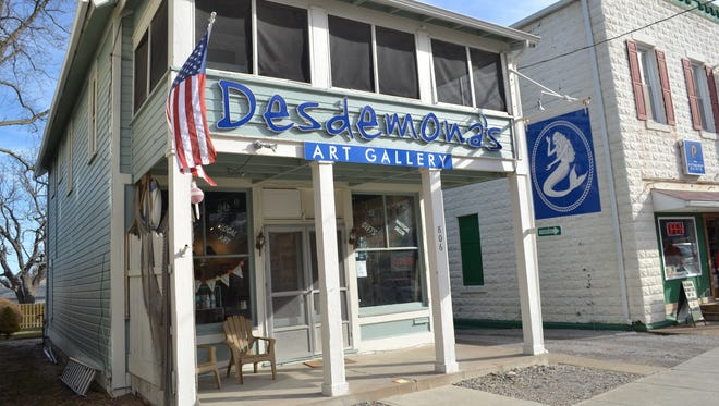 Desdemona's Art Gallery is open Friday through Monday, but hours will be expanded during the summer tourist season.
