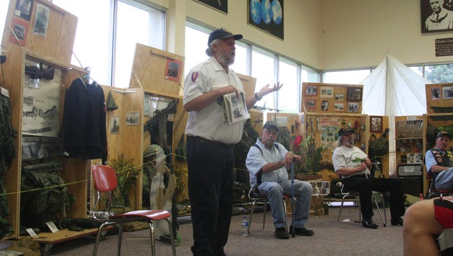 "Steve Buntjer, a Vietnam War veteran from Black Creek, shared his story during a ""Recollections of Vietnam"" presentation at Neenah High School in 2013."