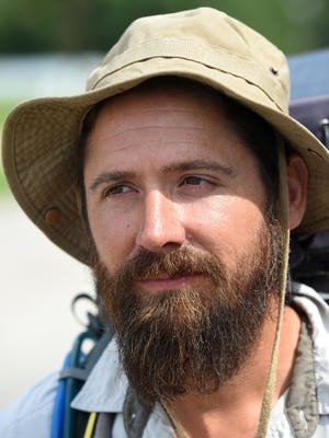 """Ryan Ray, 34, of Los Angeles is walking from LA to New York City to show people that, """"anything is possible."""""""