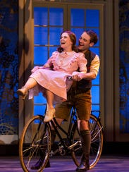 Keslie Ward as Liesl and Chad P. Campbell as Rolf in