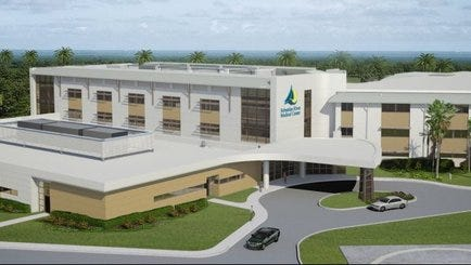 Sebastian River Medical Center's planned $64 million expansion is to be finished in 2018.