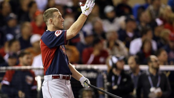 Todd Frazier reacts during the MLB Home Run Derby.
