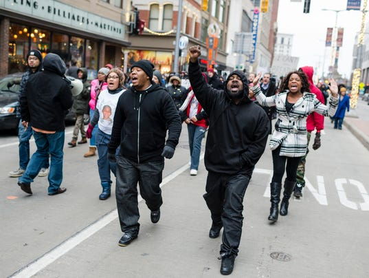 Protestors From Ferguson Join Cleveland Activists For Rallies Against Tamir Rice Shooting