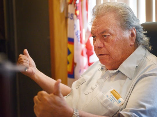 Rosebud Sioux Tribal President William Kindle talks about IHS, Indian Health Service, Monday, July 30, at the Rosebud Sioux Tribal Offices in Rosebud.