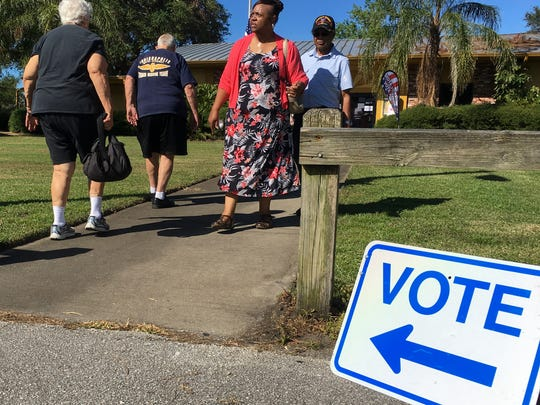 Rockledge residents turn out to vote Tuesday in Rockledge City Council Seat 3 election, in which Sammie Brown Martin defeated Robert LaMarr.