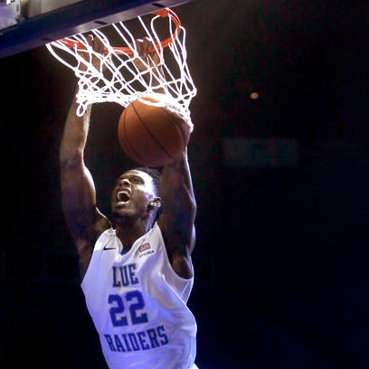 MTSU forward JaCorey Williams (22) is eligible to play