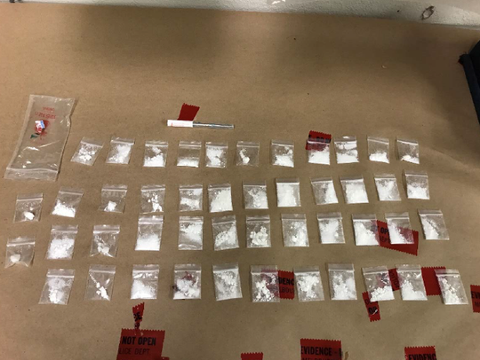 Officers seized 24.3 grams of cocaine divided into