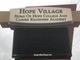 A sign for Hope College and Career Readiness Academy,