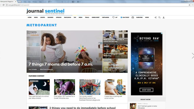 MetroParent is on the Journal Sentinel website now.
