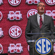 Joe Moorhead exudes confidence for Mississippi State at first SEC Media Days