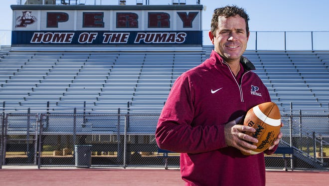 Gilbert Perry football coach Preston Jones is the Arizona Sports Awards, presented by Arby's, Big Schools Football Coach of the Year.