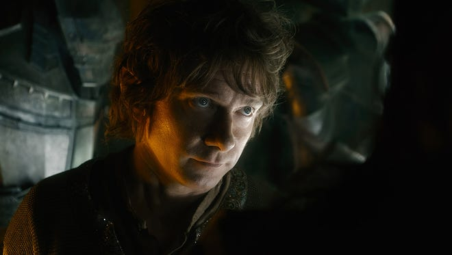 "Bilbo (Martin Freeman) returns in 'The Hobbit: The Battle of the Five Armies,' where ""all cards are on the table."""