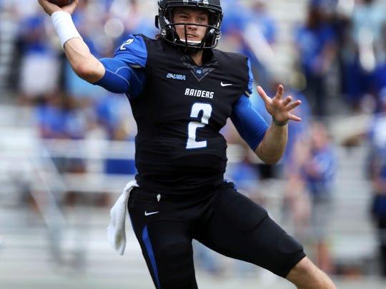 MTSU quarterback Austin Grammer completed 65.4 percent of his passes last season, the fifth-highest single-season percentage in school history.