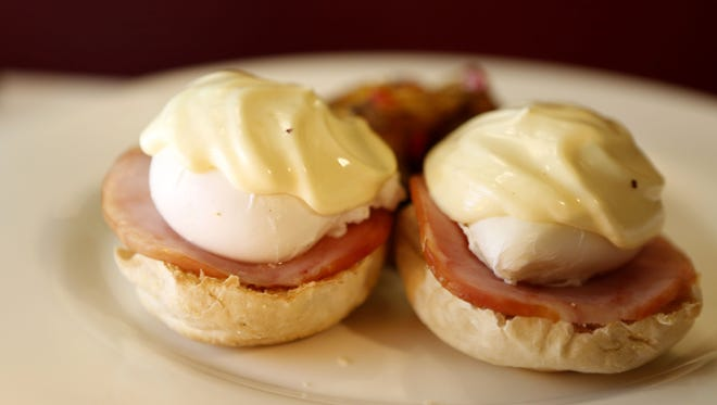 Eggs Benedict, an item on the brunch menu at Hudson House in Nyack.