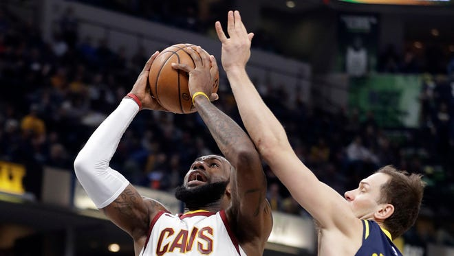 """During the regular season, the Indiana Pacers Bojan """"Bogie"""" Bogdanovic has defended the Cleveland Cavaliers' LeBron James better than most in the NBA. Gregg Doyel has the stat to prove it."""