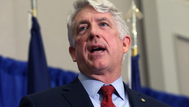 Virginia Attorney General Mark Herring speaks at a news conference at his office in Richmond, Va., in January.