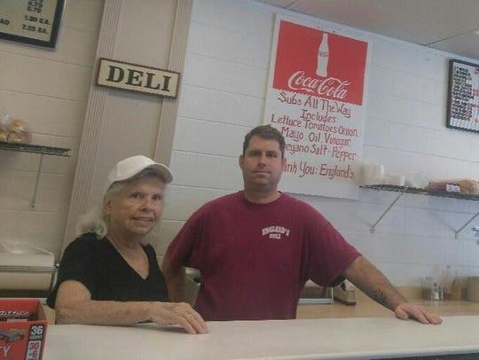 Chuck and Carol Englund at Original Englund's Deli