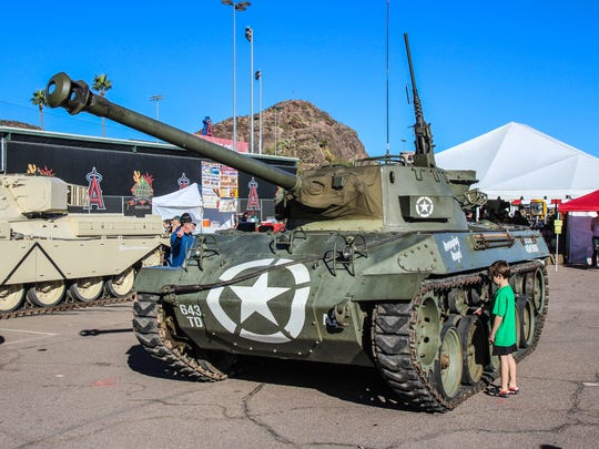 M18 Hellcat with boy for scale