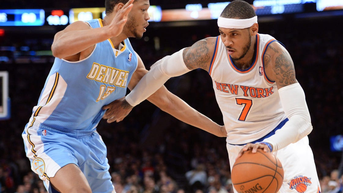 Anthony, Knicks take care of Nuggets 117-90