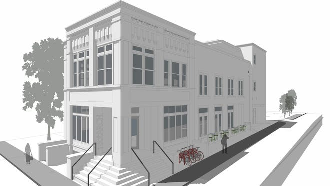 A rendering of The Livery at 5th & Monroe where space was leased for The Sloane event venue.
