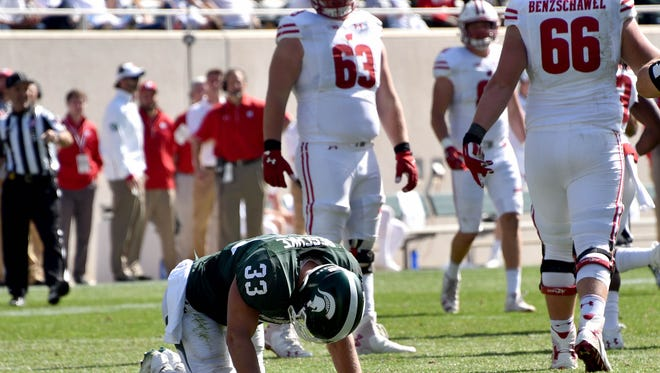 Spartan linebacker Jon Reschke injured his ankle in the loss to Wisconsin on Sept. 24. Coach Mark Dantonio confirmed Sunday the junior will be held out for the rest of the rest of the season so he can seek a sixth year of eligibility if he choses.