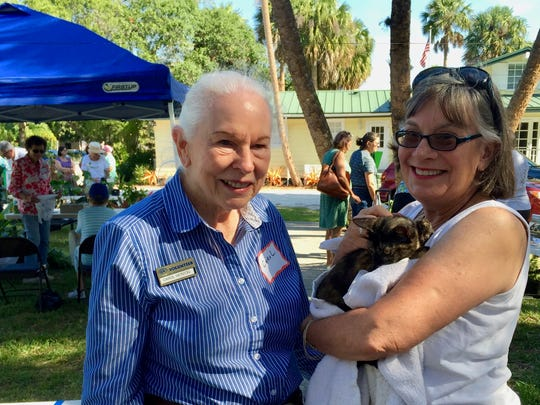 Carol Herzog of Savannas State Park and Sharon Cooper
