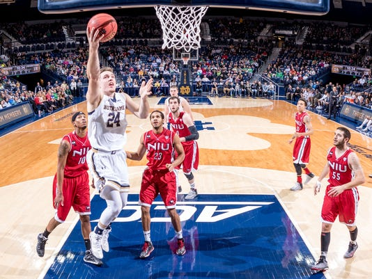 NCAA Basketball: Northern Illinois at Notre Dame