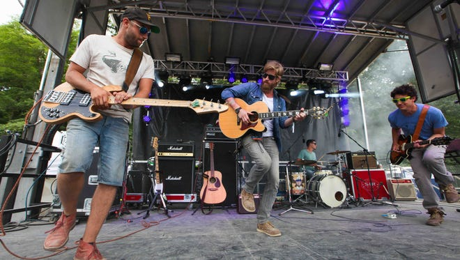 Wilmington's New Sweden performs at Firefly Music Festival in Dover Saturday afternoon.