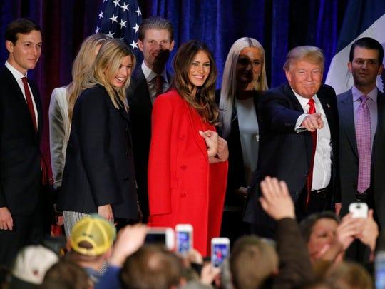 Donald Trump leaves West Des Moines on Feb. 1, 2016