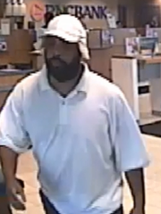 Police are seeking this man in connection with a bank holdup Saturday in Gloucester Township.