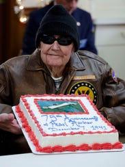 """Pearl Harbor survivor Stuart """"Bud"""" Sweeney, 94, of"""