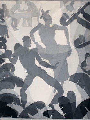 Dance Aaron Douglas, ca. 1930, gouache on illustration