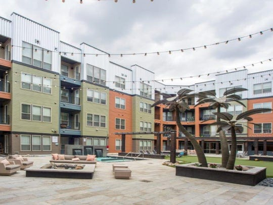 The design of courtyard at a DTN Development Group,
