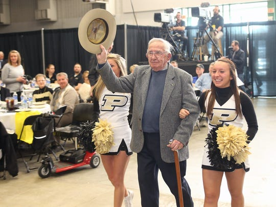 Mauri Williamson walks through the annual Purdue Ag Fish Fry in 2015 at the Indiana State Fair Grounds. Williamson, who led the Purdue's Ag Alumni Association for nearly 40 years, was one of the key starters of the famous Fish Fry event.