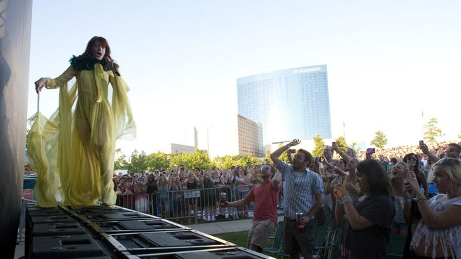Florence Welch performs with Florence and the Machine at the Lawn at White River State Park on July 4, 2011.
