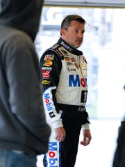 Tony Stewart, who was black-flagged during the first